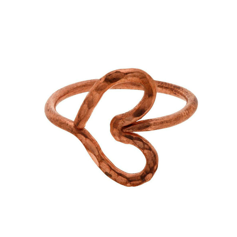 Zambia Copper Heart Ring