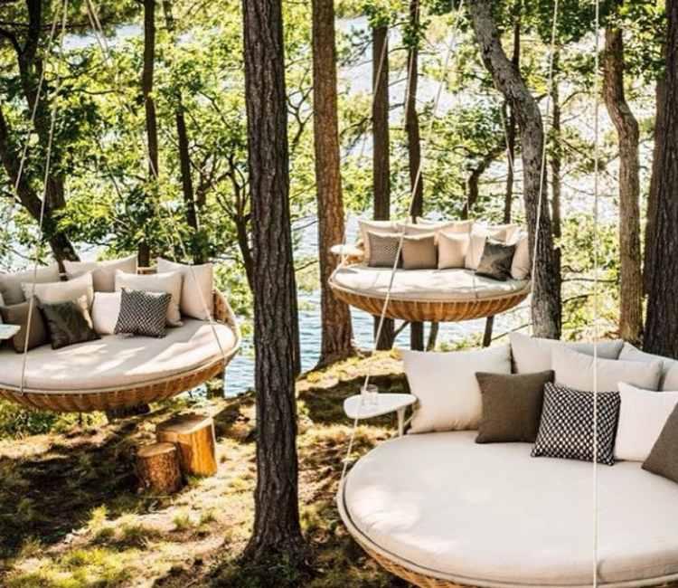 spots to sip and savour - best tea swing chairs