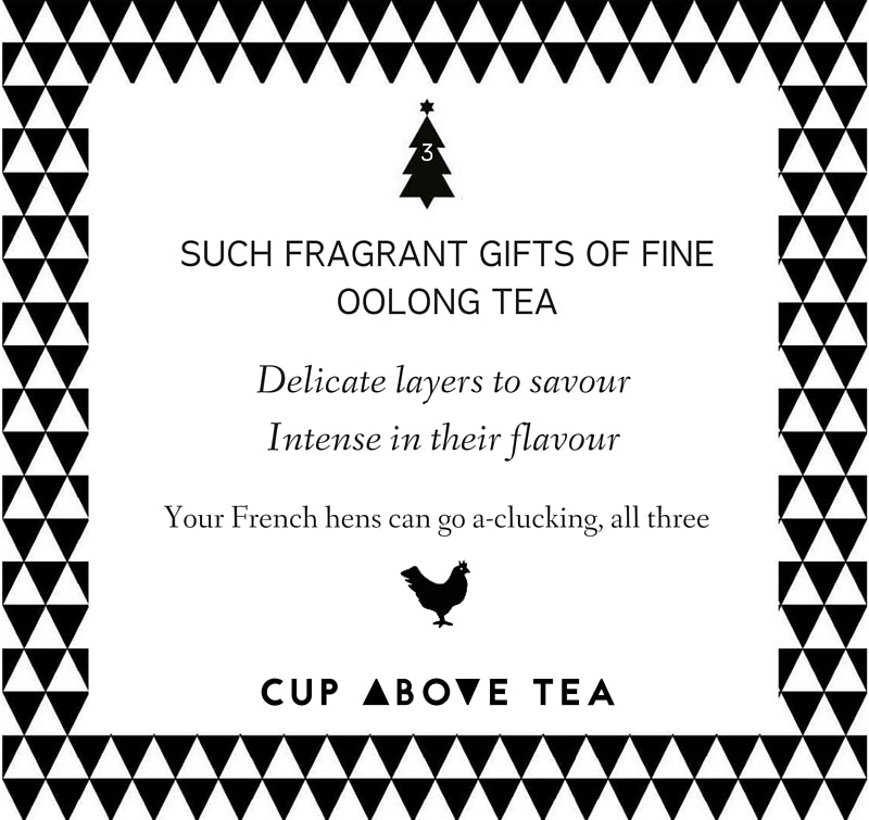 On the third day of ChristmasCup Above Tea sent to me