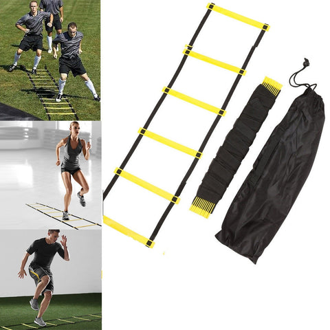 5 Rung 10 Feet 3M Agility Ladder for Speed Soccer Football Fitness Feet Training With Bag Crossfit Outdoor Fitness Equipment - RXD PRO Functional Fitness