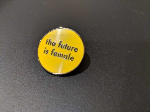 The Future is Female Yellow Pin
