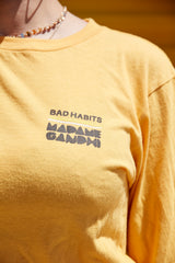 Bad Habits Long Sleeve T-Shirt - Madame Gandhi Merch Shop