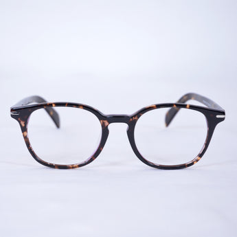 MG Vintage Dark Havana Round Glasses Model 3421 - Acetate based frame, metal hinges, Silver accents on side. A Timeless vintage look that would make you Stand out!
