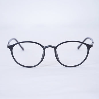 MG Modern Cat Eye Glasses Matte Black 3422 - Acetate Frames, Metal Hinges, and the perfect and discreet silver Art Deco accent on side. An Elegant look for any Occasion!