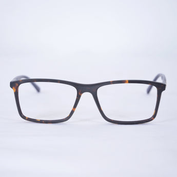MG Elegant Tortoise/Black Square Glasses Model 3425 - Acetate Frames, Metal Hinges, Classic Silver Accent on Tortoise Arm. Becoming a Most Have for a Professional Vibrant Look!