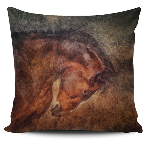 Bowing Horse Pillow Cover
