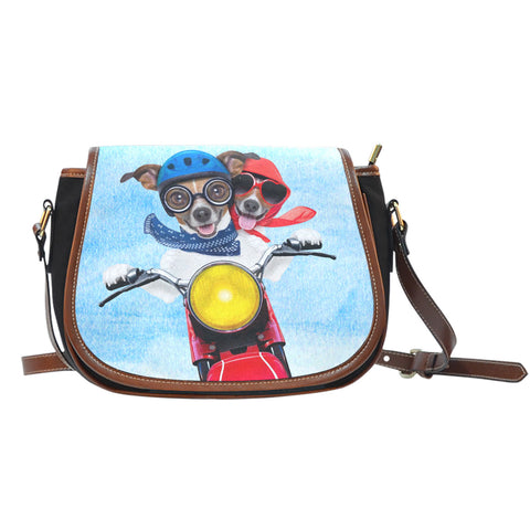 Biker Dogs Shoulder Saddle Bag