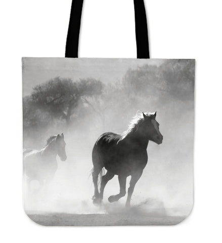 Clouded Horse Cloth Tote Bag