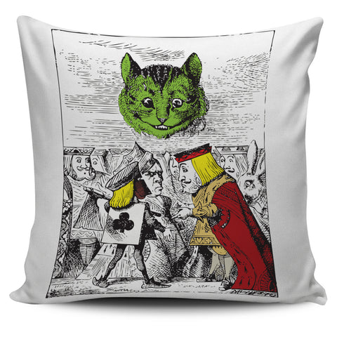 Cat and King Pillow Cover