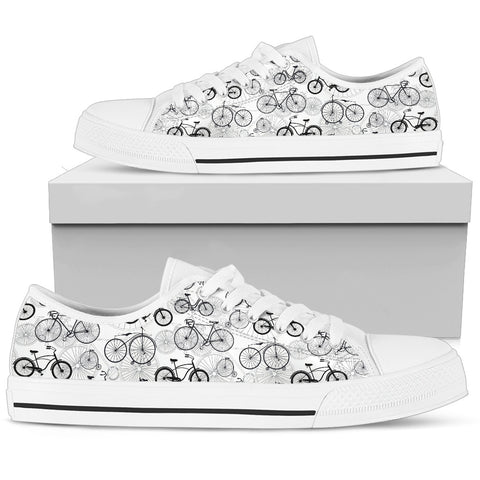 Bicycle Lovers Low Top Shoe -  Women's