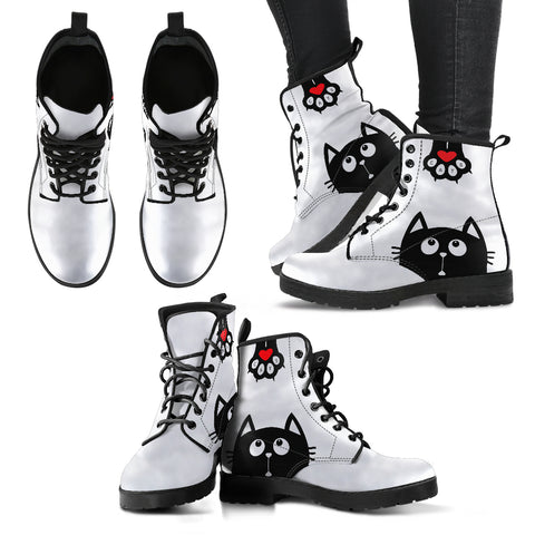 Cat Women's PU Leather Boots
