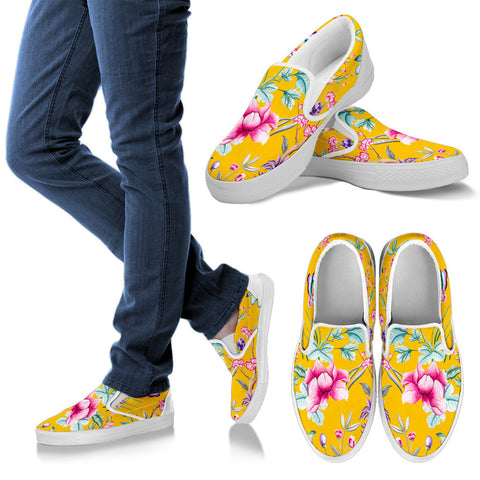 FLORAL SLIP ONS - Ladies