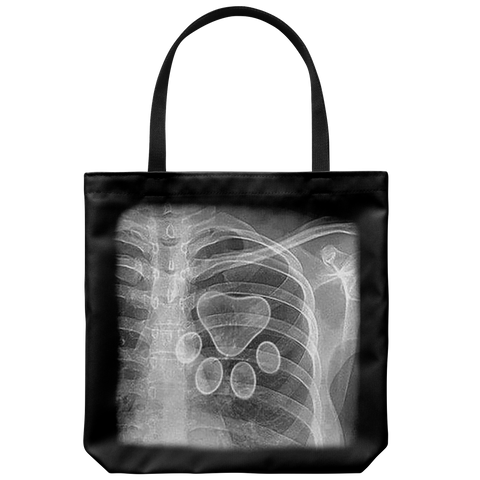 Tote Bag #2 Lined - Heartbeat Xray