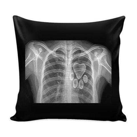 Pillow Cover Black - Xray