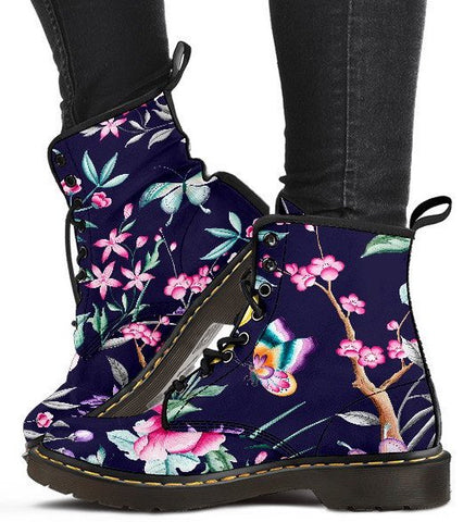 FLORAL COLLECTION - Ladies Navy Boots