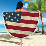 Thin polyester Throw/Table Cloth  US Flag