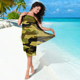 Green Camouflage Scarf Sarong