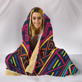 Customised Hoodie Blanket Red and Blue Tribal Pattern