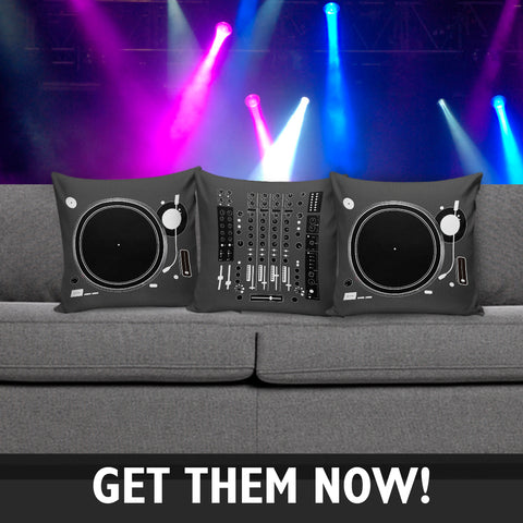 DJ Turn Table and Mixer Pillow Covers