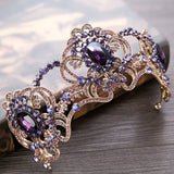 Baroque Purple Crystal  Crown