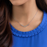 Delicate Pendant Necklace  2 in 1