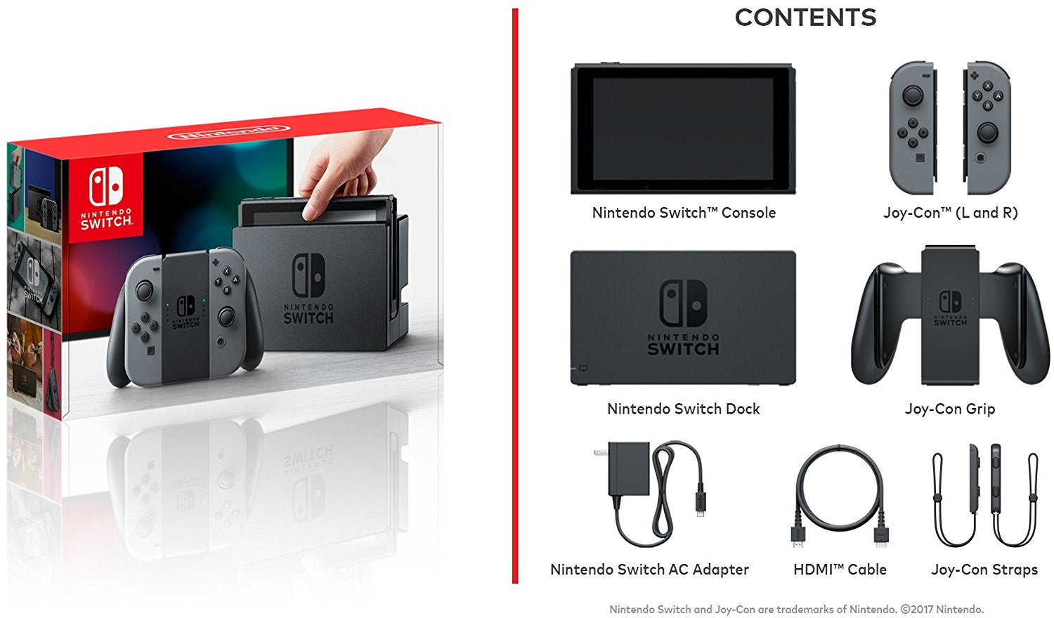 Nintendo Switch Console Contents