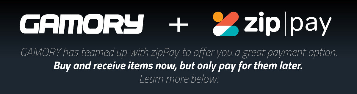 GAMORY + zipPay - a new payment option. Buy now, pay later.