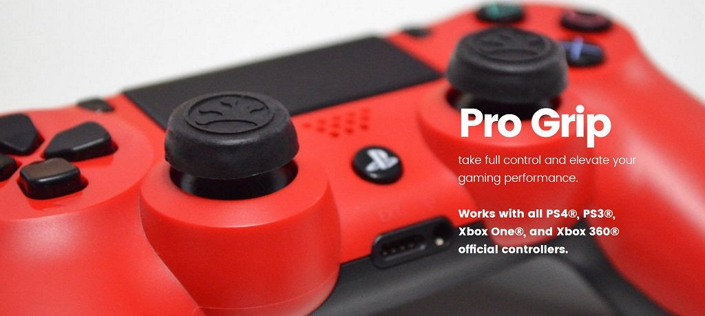Pro Grip take full control and elevate your gaming performance.  Works with all PS4®, PS3®, Xbox One®, Xbox 360®, and Nintendo Switch Pro official controllers.