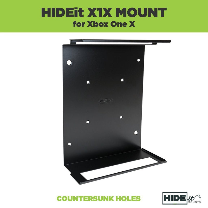 HIDEit X1X Xbox One X Vertical Wall Mount Bracket (Black) Console Accessories HIDEit
