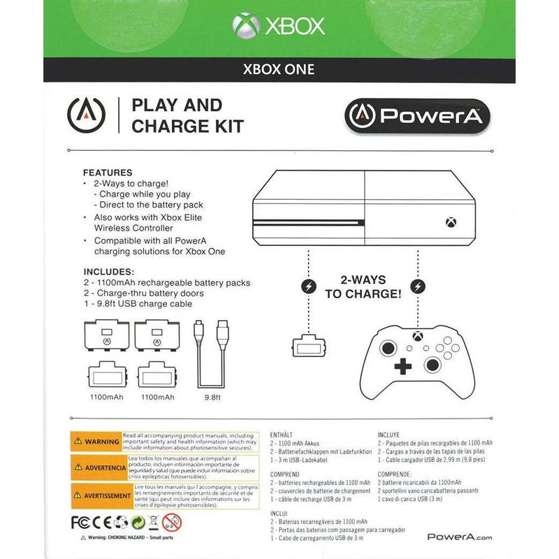 Xbox One Play & Charge Kit (2-Pack) Battery & Charge Kits PowerA