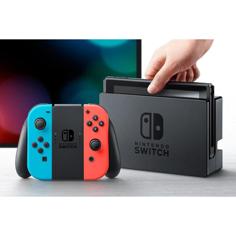 Nintendo Switch Console with Neon Blue and Red Joy-Con Console Nintendo