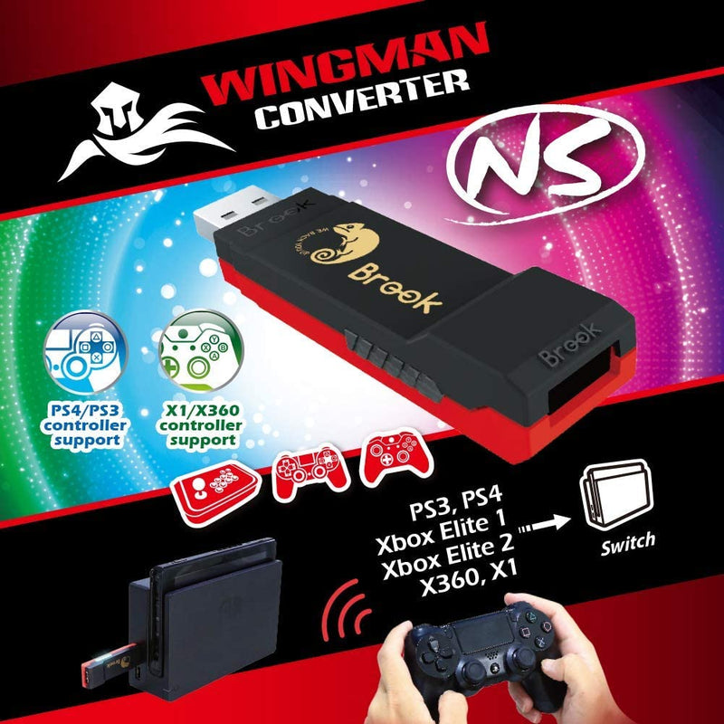 Brook Wingman NS Converter Adapter (PS4/Xbox Elite/Xbox One to Nintendo Switch)