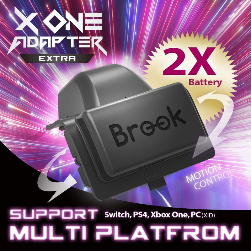 Brook X One Wireless Controller EXTRA XL Adapter and Rechargeable Battery (Xbox One to PS4/Switch/PC) (Black)
