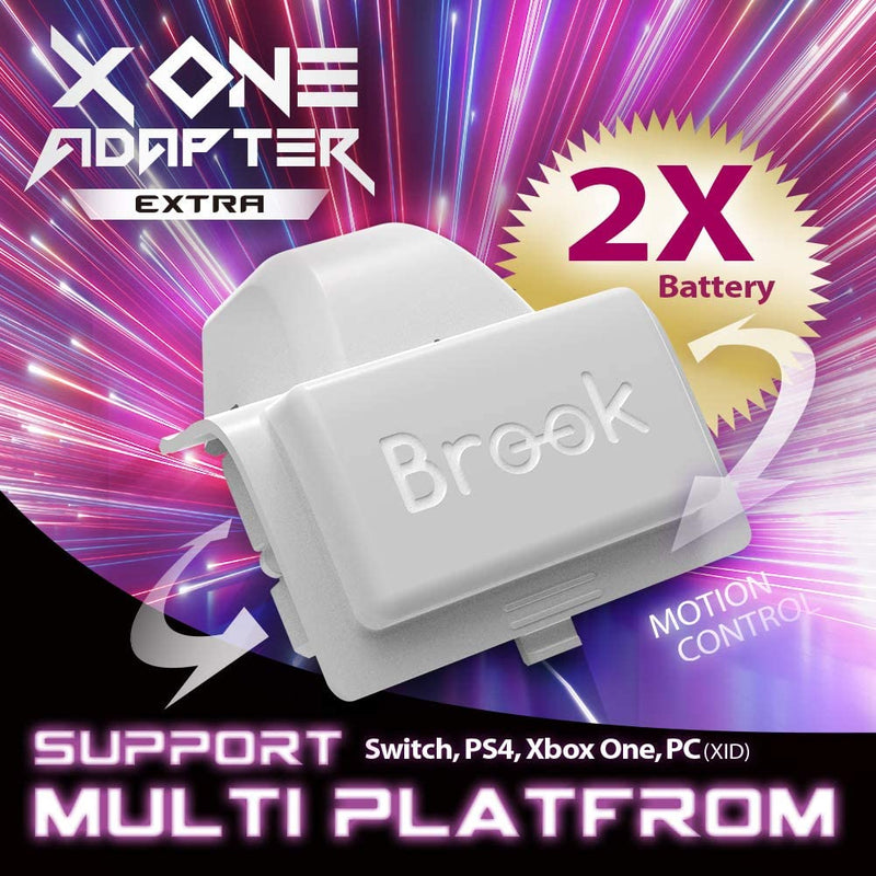 Brook X One Wireless Controller EXTRA XL Adapter and Rechargeable Battery (Xbox One to PS4/Switch/PC) (White)