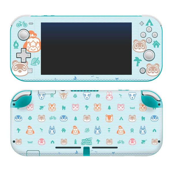 Controller Gear Nintendo Switch Lite Skin Set (Animal Crossing: Outdoor Pattern)