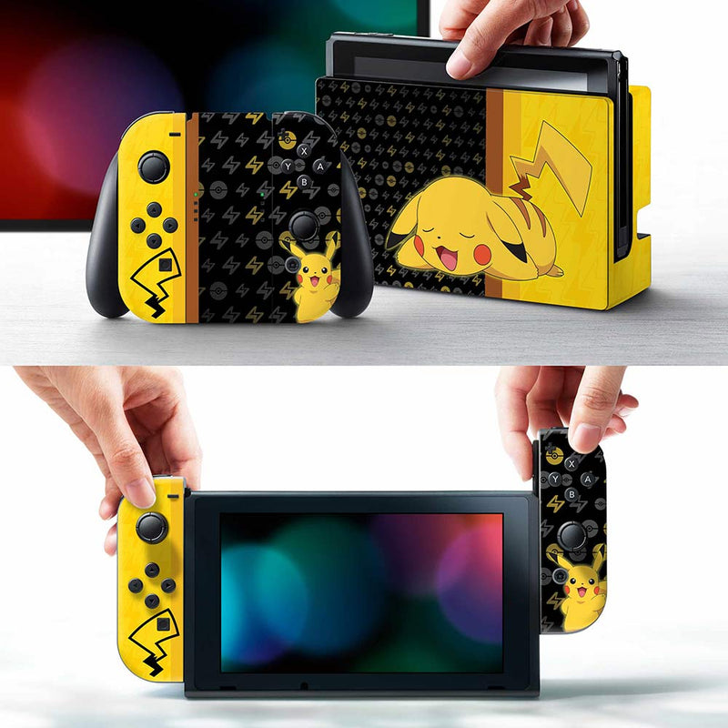 Controller Gear Officially Licensed Nintendo Switch Skin & Screen Protector Set (Pokemon Pikachu)