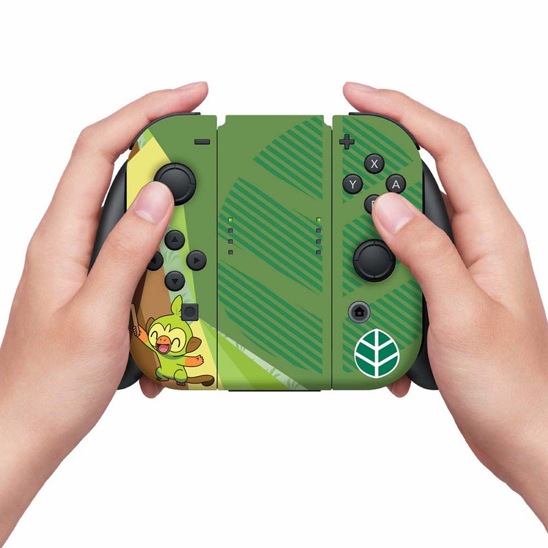 Controller Gear Nintendo Switch Skin & Screen Protector Set (Pokemon Sword/Shield Grookey)