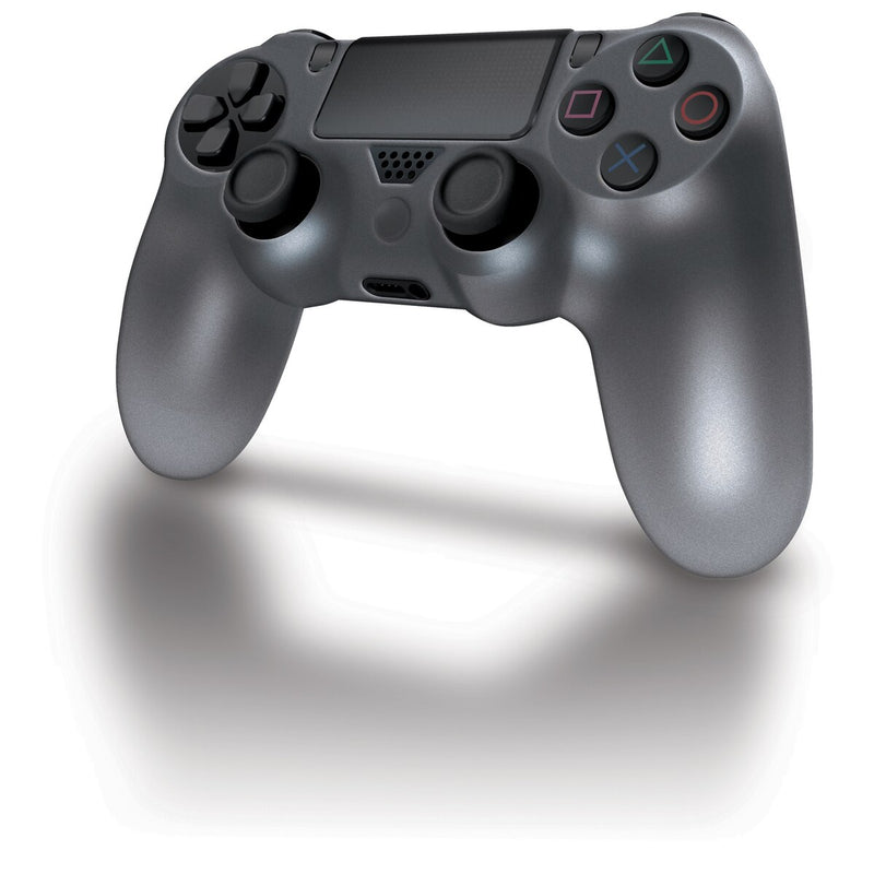 DreamGEAR Silicone Comfort Grip Cover for PS4 DualShock 4 Controller - Smoke Grey