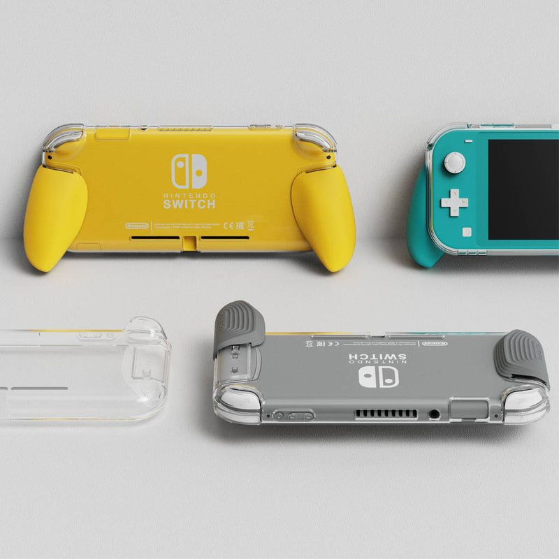 Skull & Co. GripCase Lite Bundle for Nintendo Switch Lite (with MaxCarry Case Lite) - Grey