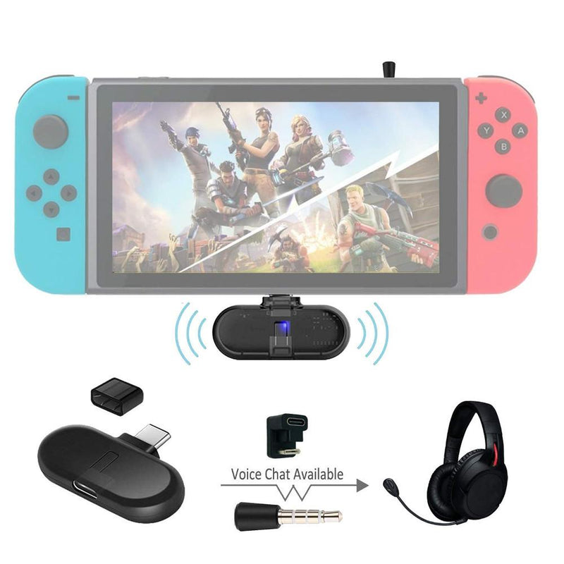 GuliKit Route+ Pro Bluetooth Audio USB Transceiver (Transmitter-Receiver Adapter) for Nintendo Switch Console Accessories GuliKit