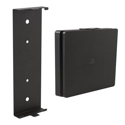 HIDEit 4S PlayStation 4 Slim (PS4 Slim) Vertical Wall Mount Bracket (Black)
