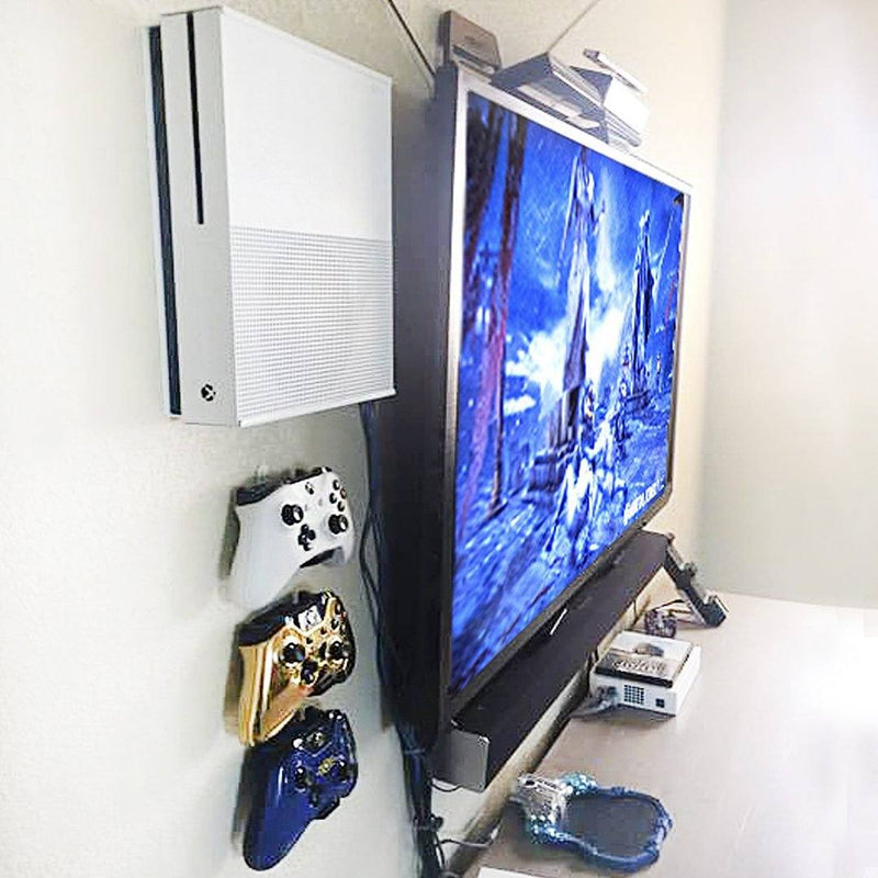HIDEit X1S Xbox One S Vertical Wall Mount Bracket (White/Black) Console Accessories HIDEit