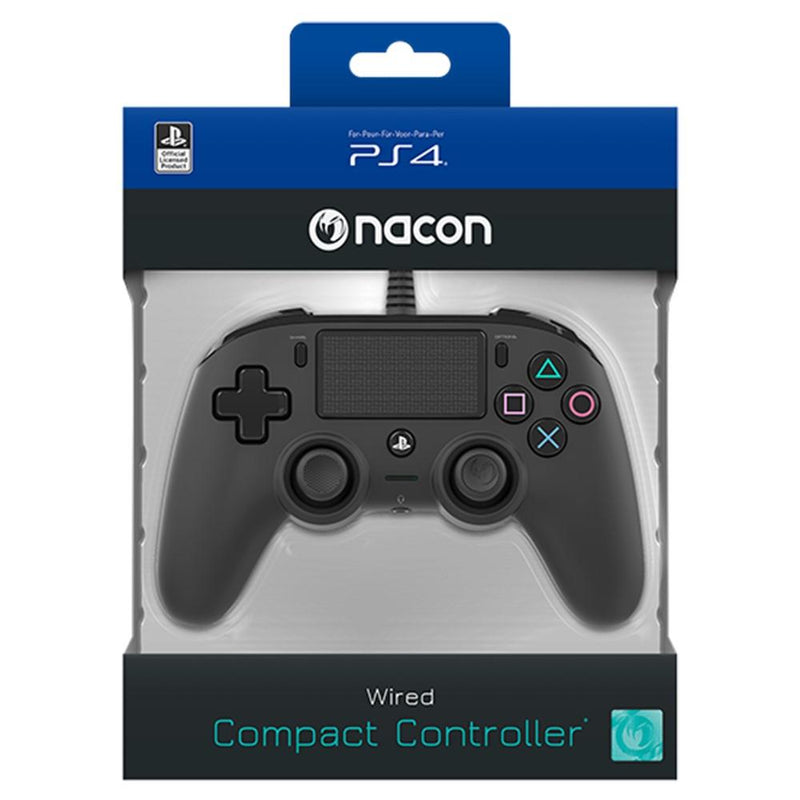 Nacon Wired Compact Controller for PlayStation 4 (PS4) - Black Controllers Nacon