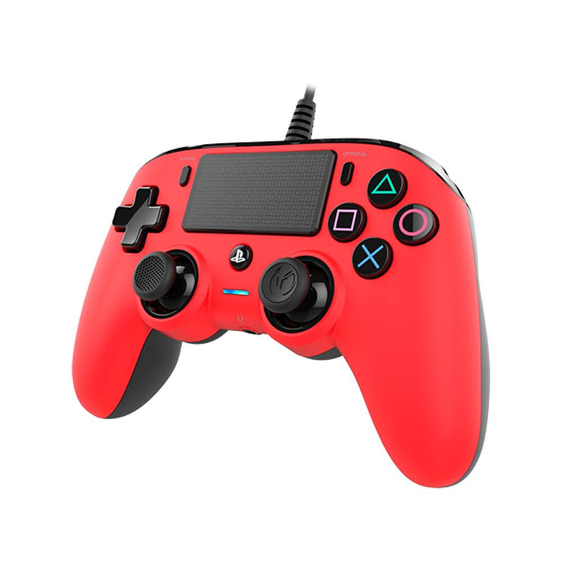 Nacon Wired Compact Controller for PlayStation 4 (PS4) - Red Controllers Nacon