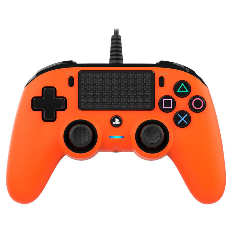 Nacon Wired Compact Controller for PlayStation 4 (PS4) - Orange Controllers Nacon