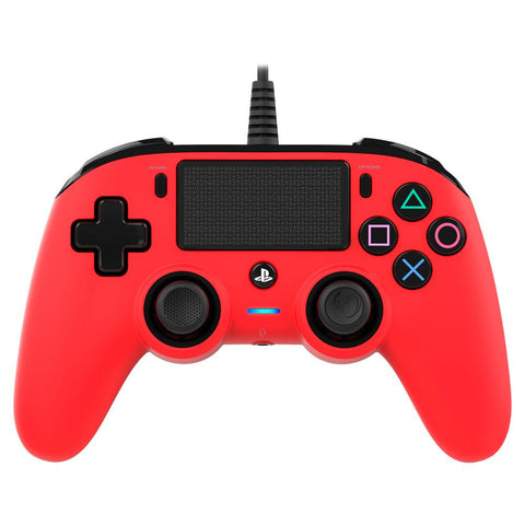 Nacon Wired Compact Controller for PlayStation 4 (PS4) - Red