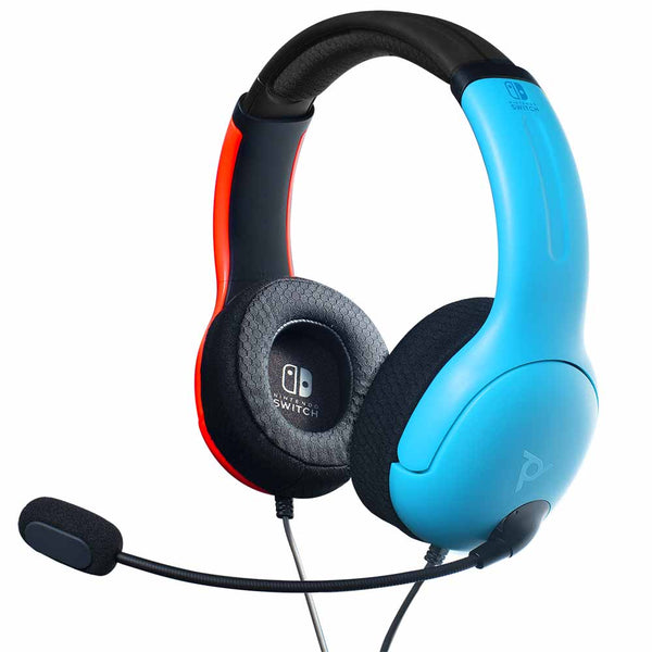 Nintendo Switch PDP LVL40 Wired Stereo Gaming Headset (Blue/Red)