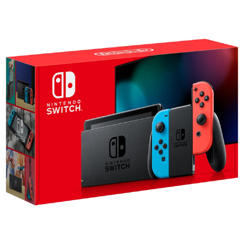 Nintendo Switch Console with Neon Blue and Red Joy-Con (New Look Packaging 2019)