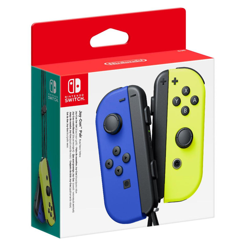 Nintendo Switch Joy-Con Blue & Neon Yellow Controller Pair