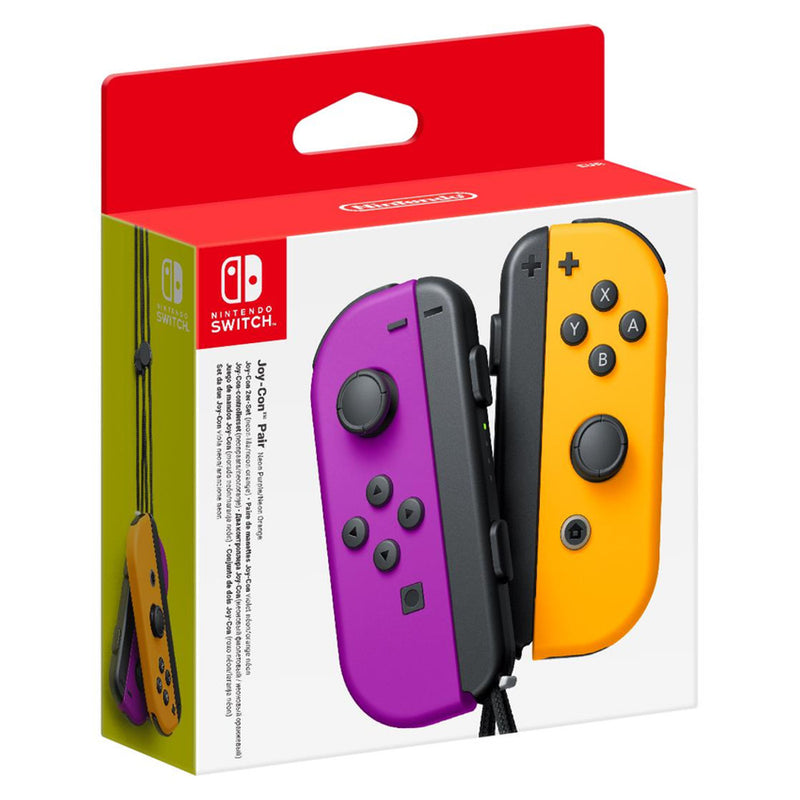 Nintendo Switch Joy-Con Neon Purple & Orange Controller Pair